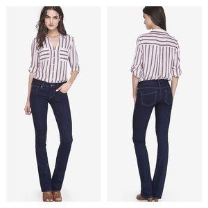 Express Stella Low Rise Bootcut Jeans Dark Wash